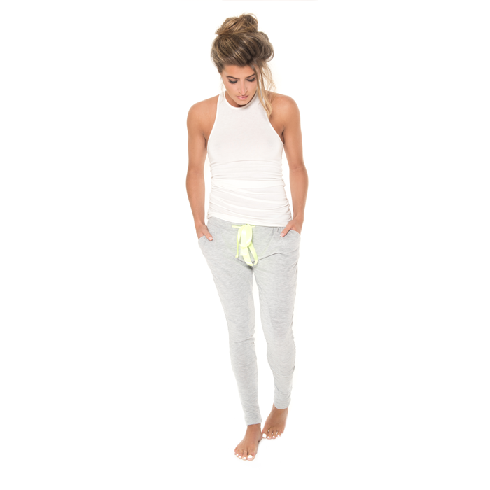 London Lime – Loungewear Pant – Lime Ribbon