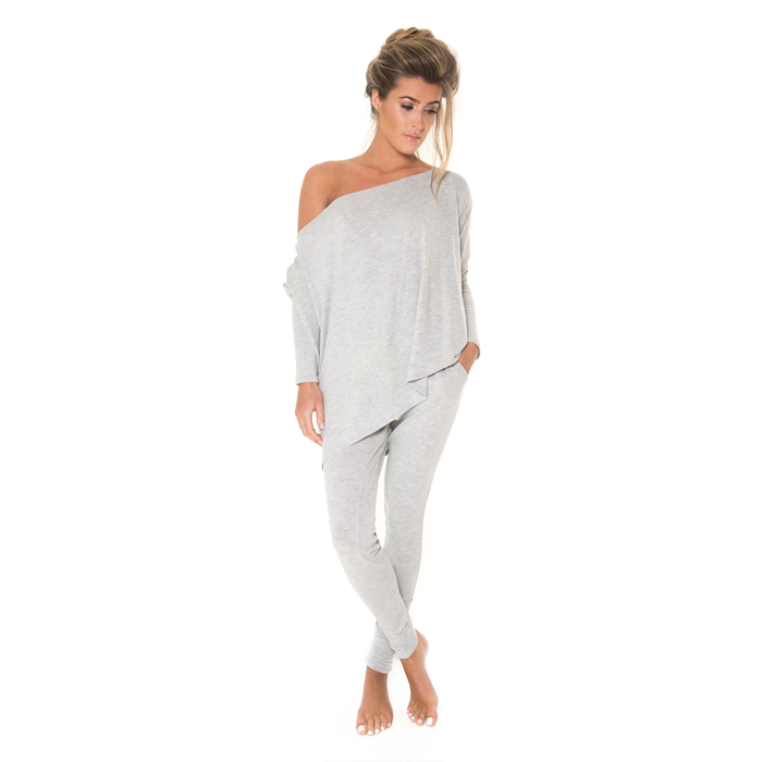 London – Loungewear Pants – Grey Ribbon